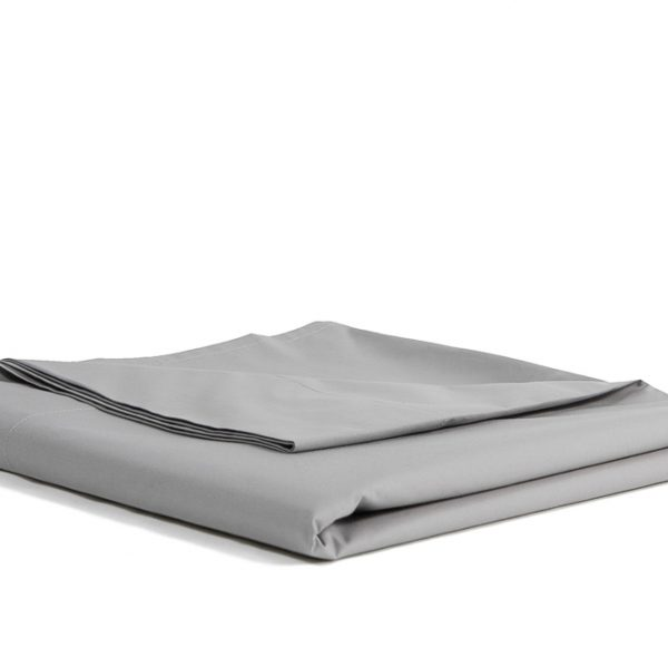 Percale-Egyptian-Cotton-Flat-Sheet-Top-Sheet-Stone-grey