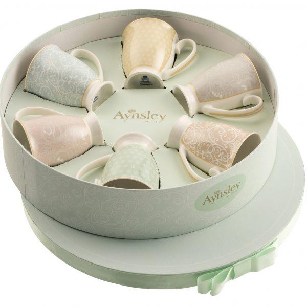 aynsley-silver-laurette-6-mugs-in-hat-box-set
